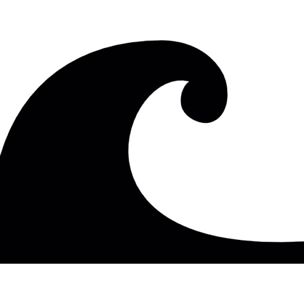 ocean wave shape icons free download