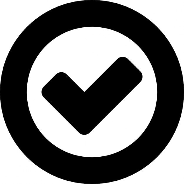 Ok Symbol Inside A Circle Outline Icons Free Download