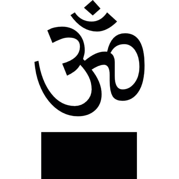 Om Symbol On A Podium Icons Free Download