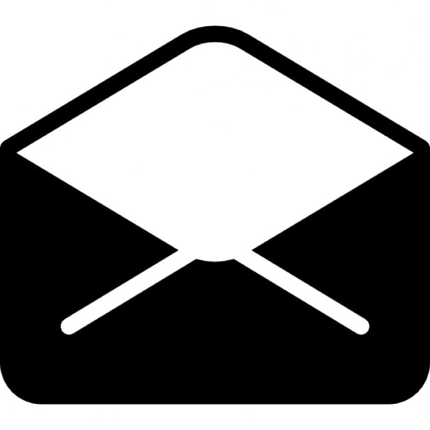 Open envelope back interface symbol of email Icons | Free ... Open Envelope Icon