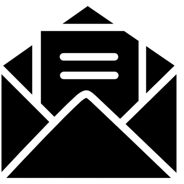 open envelope with letter free icon