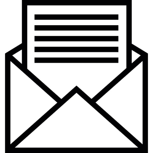 Open Envelope With Letter Icons Free Download