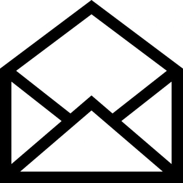 Open Mail Interface Symbol Icons Free Download