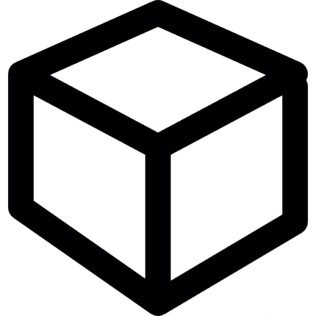Cube Icon Download Outline of a Cube Free Icon