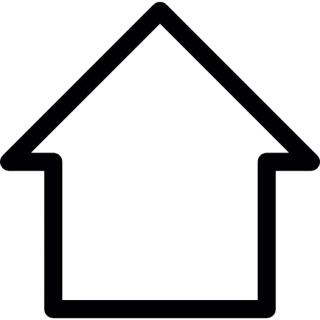 Outline of a house icons free download for Minimalist house logo