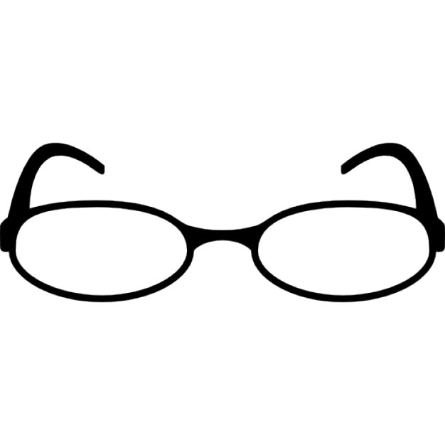 Oval Shape Reading Eyeglasses Icons Free Download