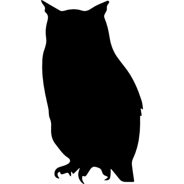 owl bird shape free icon