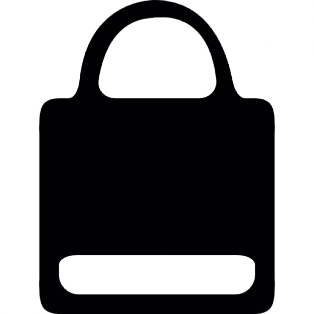 Paper bag silhouette with white label Icons | Free DownloadWhite Paper Bag Vector