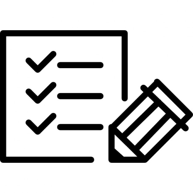 Paper checklist with pen Icons | Free Download