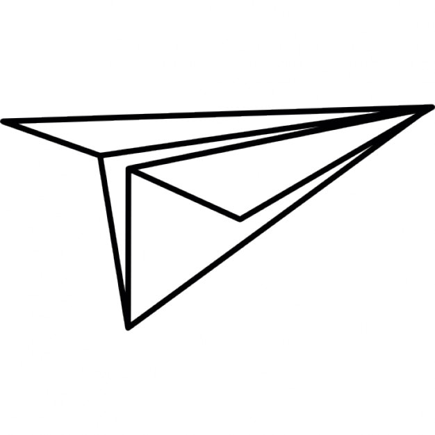 Paper plane, IOS 7 interface symbol Icons | Free Download