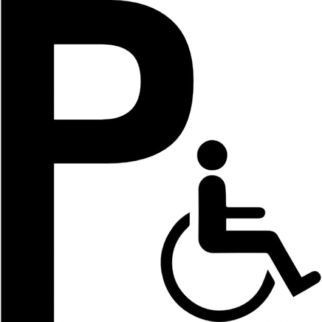 Parking For Disabled Persons Sign Icons Free Download