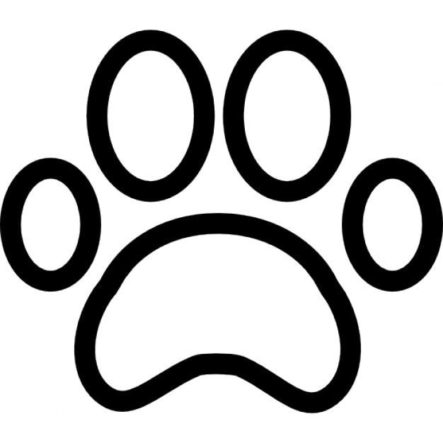 Paw Print Outline Icons Free Download