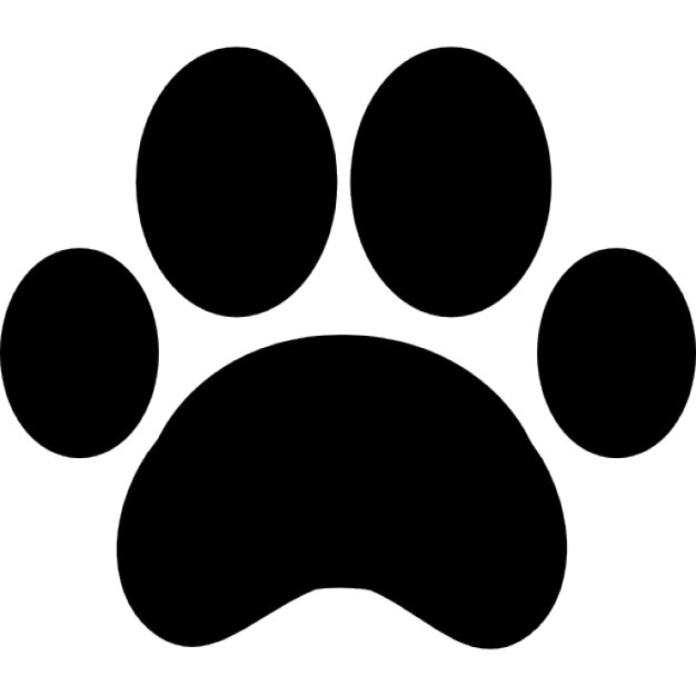Paw print outline Free Icon