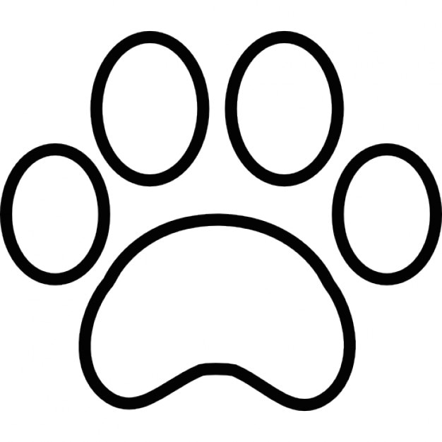 Paw Print Outline Icons