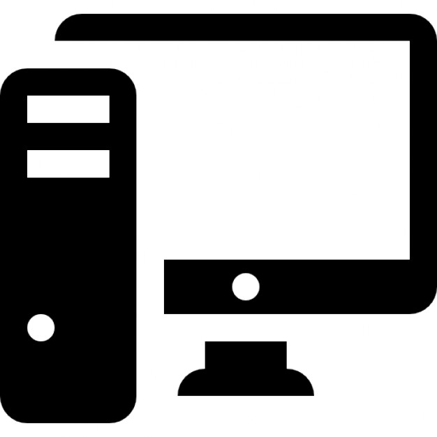 pc computer with monitor icons free download rh freepik com computer hand icon vector computer screen icon vector