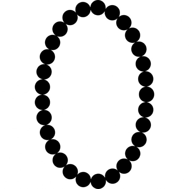 Pearls necklace oval frame shape Icons | Free Download