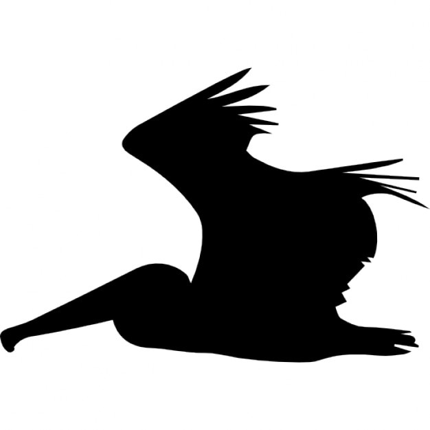 pelican flying side silhouette icons | free download