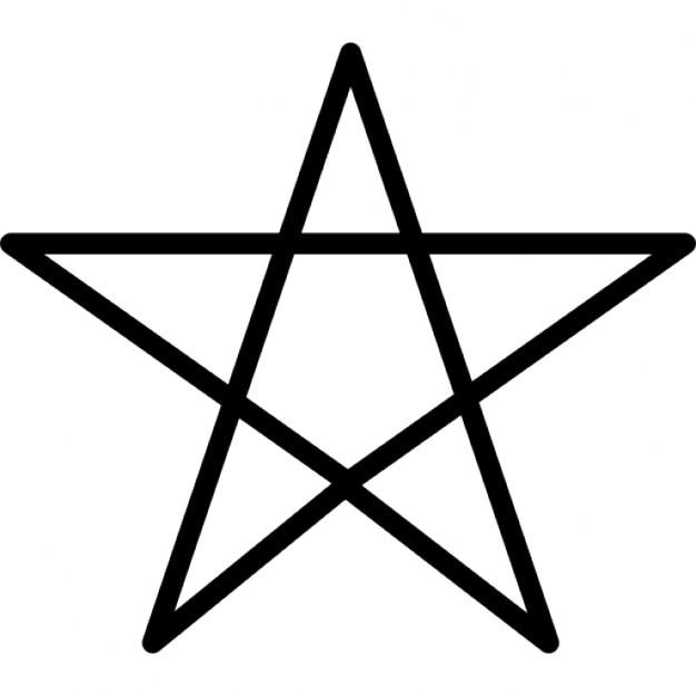 Pentagram Symbol Outline Icons Free Download
