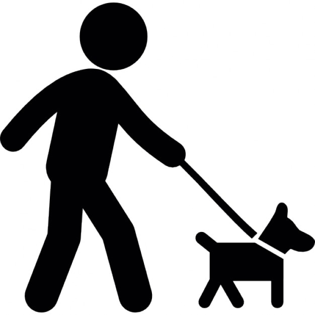 Person walking with dog Icons | Free Download