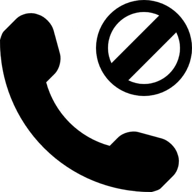 Phone Block Symbol Icons Free Download