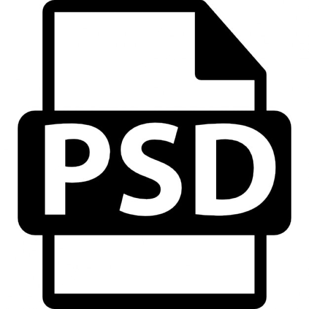 Photoshop file format Free Icon