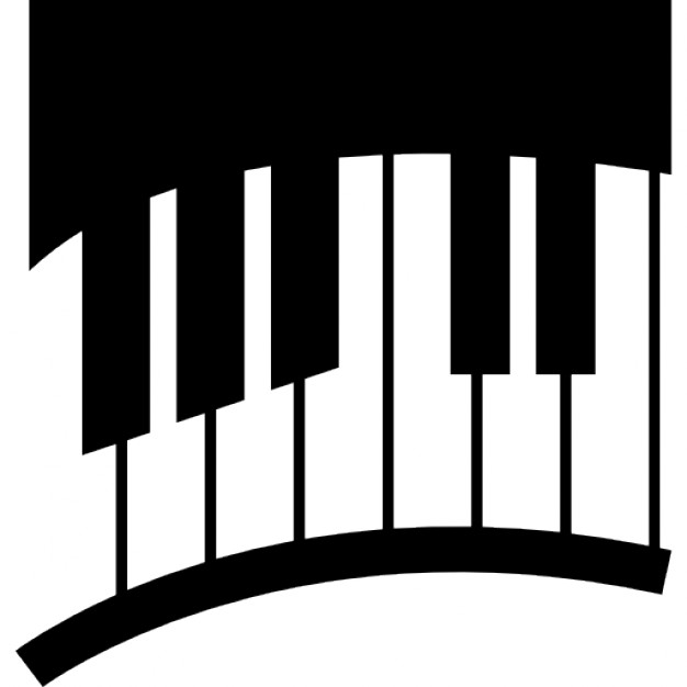 Piano Keys In Curve Icons Free Download