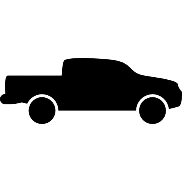 Pick Up Truck Side View Silhouette Icons Free Download