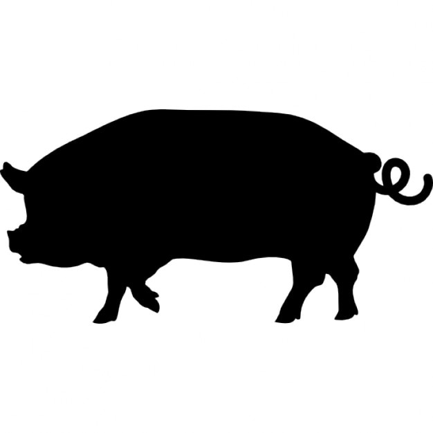 pig side view silhouette icons free download rh freepik com