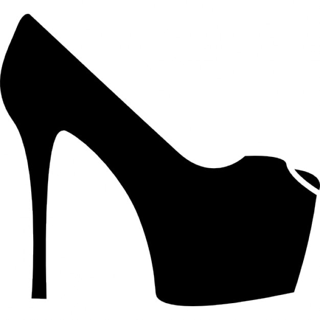 platform high heels icons free download shoe print vector victor shoes badminton