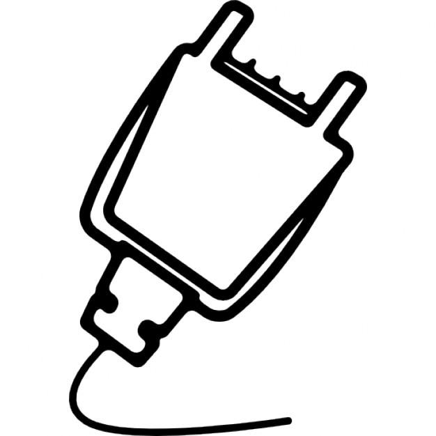 plug outline icons