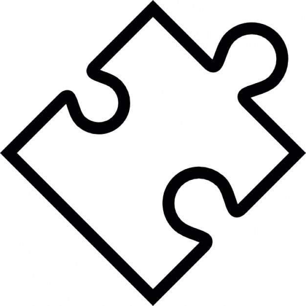 Plugin, puzzle piece shape, IOS 7 interface symbol Icons | Free ...