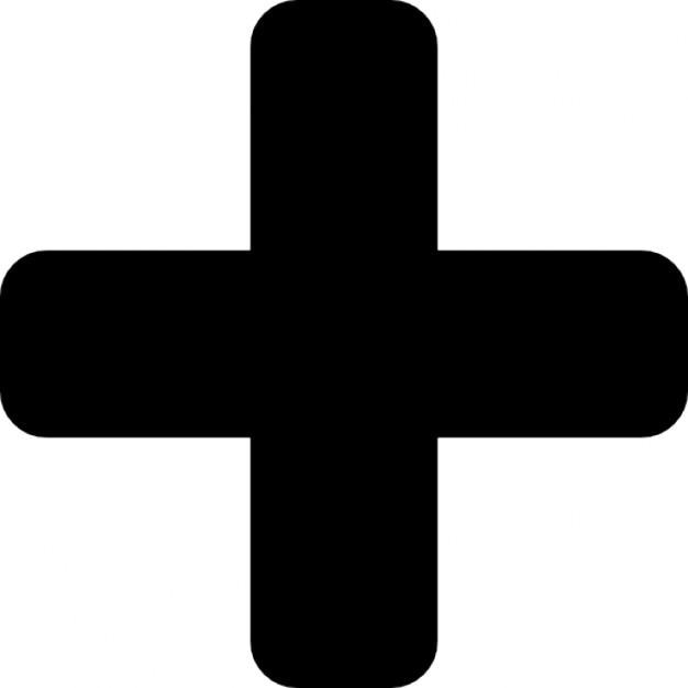Plus black symbol Icons | Free Download