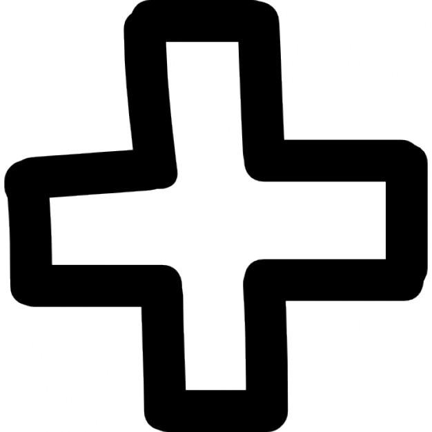 Plus hand drawn sign Icons | F...