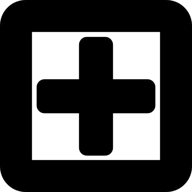 Plus Sign In A Square Symbol Of Gross Line Icons Free Download