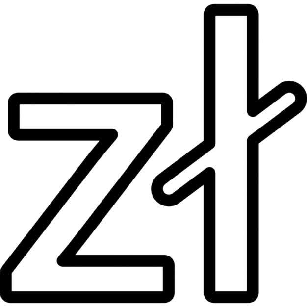 Poland Zloty Currency Symbol Icons Free Download