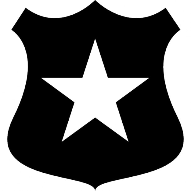 Police Shield With A Star Symbol Icons Free Download