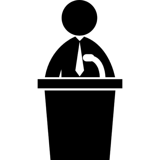 Political Candidate Speech Icons Free Download