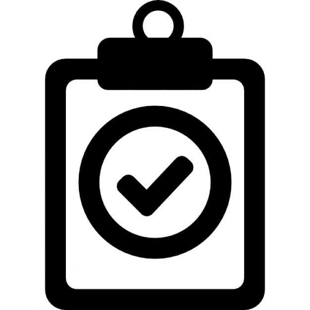 Positive Verified Symbol Of A Clipboard Icons Free Download