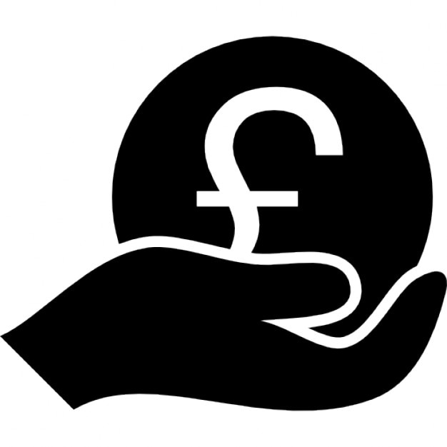 Pound Coin Of Enormeous Size On A Hand Icons Free Download