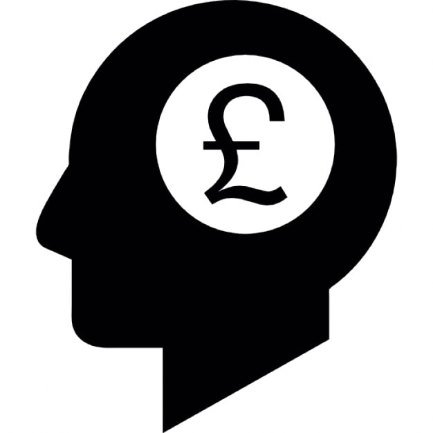 Pounds Symbol In A Head Shape Icons Free Download