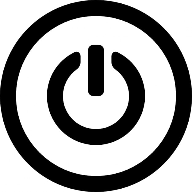 Power Circular Symbol In A Circle Icons Free Download