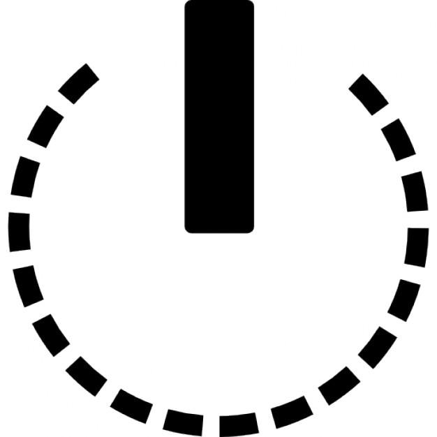 Power Circular Symbol Of Broken Line Circle Icons Free Download