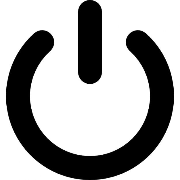 power symbol icons free download rh freepik com power button icon vector power button symbol vector