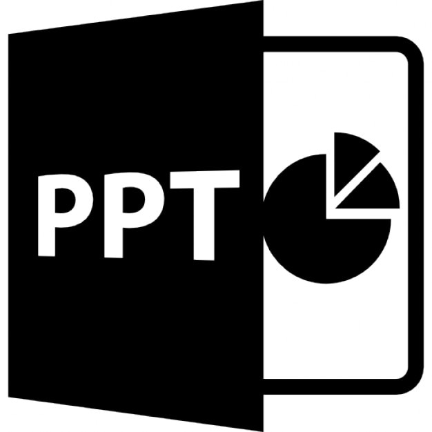 ppt open file format with pie chart icons free download
