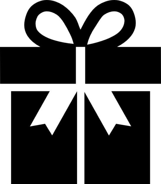 Present box with big bow Free Icon
