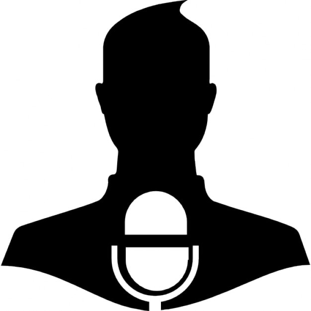 Press Release Symbol Of A Man With A Microphone Icons