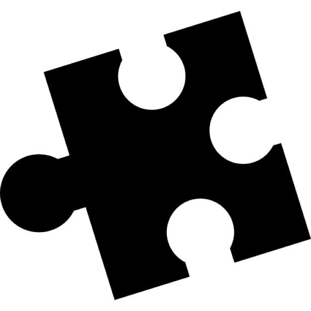 Puzzle Black Piece Shape Free Icon
