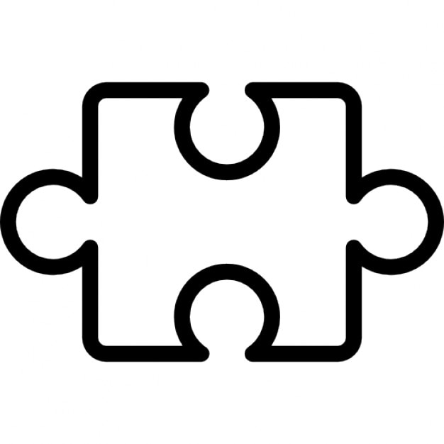 puzzle piece outline inside a circle icons free download