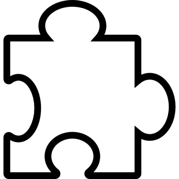 Puzzle piece outline Icons | Free Download