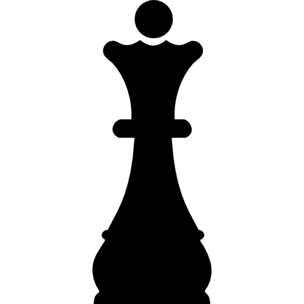 Queen Chess Piece Black Shape Icons Free Download
